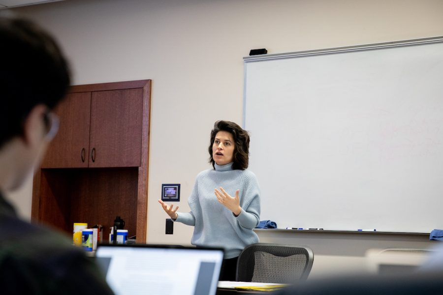 eps faculty member teaching a graduate course