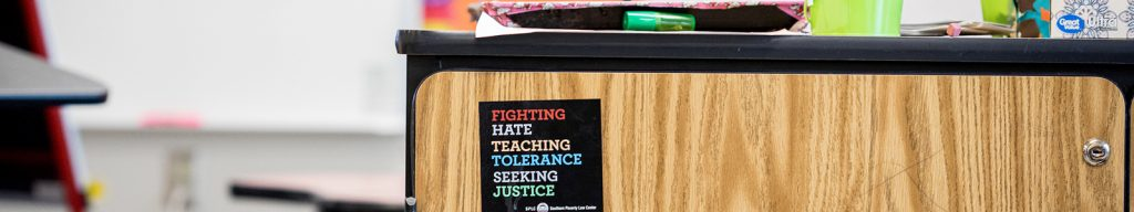 Social Justice Sticker on a desk