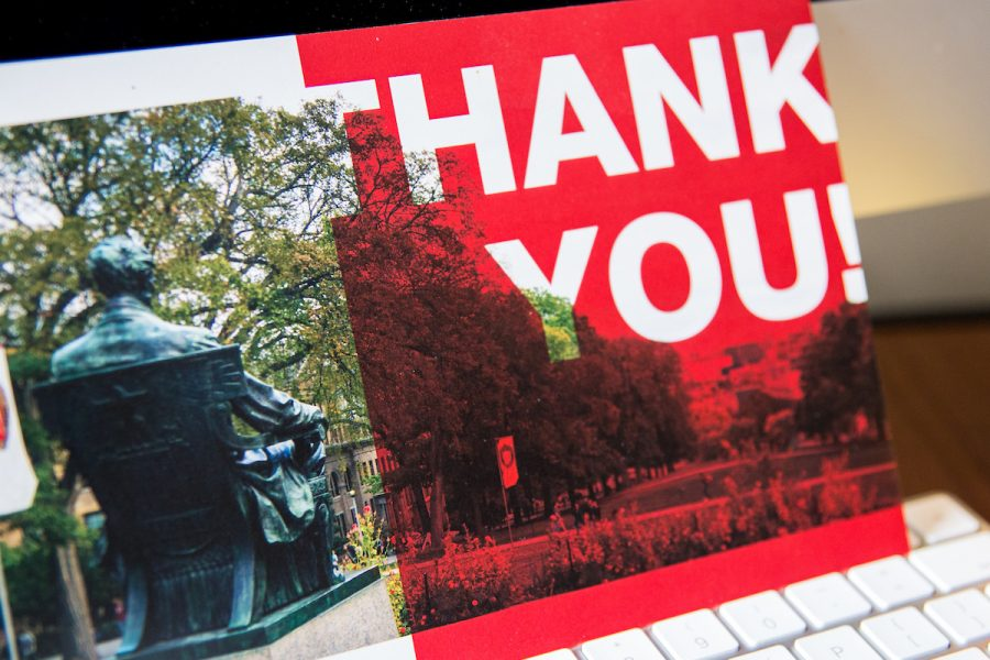 UW Thank you postcard