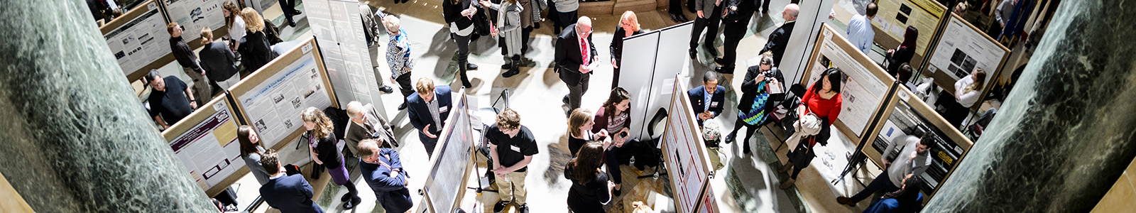people at Student Research Forum